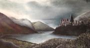 dessin paysages : Le lac
