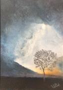 dessin paysages : Ciel orageux