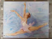 """tableau personnages : Danseuse """"fond bleu"""""""