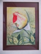 tableau fleurs : Bouton de rose