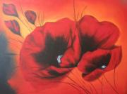 tableau fleurs : Coquelicot flamboyant