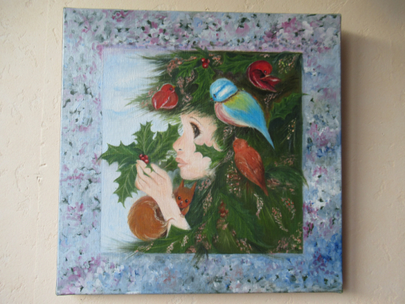 TABLEAU PEINTURE Animaux Peinture a l'huile  - Rêve de sapin