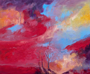 tableau paysages huile art artistes contemparain : dualite dans le pensement