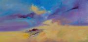 tableau abstrait paysages montagne nature riviere : Mouvement