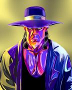 art numerique personnages catcher undertaker numerique couleurs : Toile numérique 30*40cm, The Undertaker