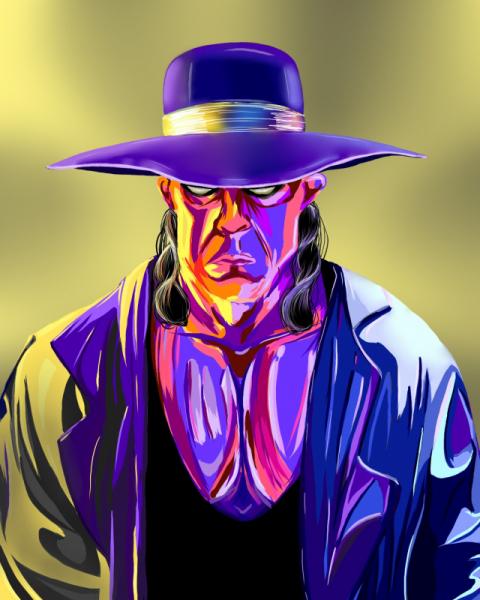 ART NUMéRIQUE catcher undertaker numérique couleurs Personnages  - Toile numérique 30*40cm, The Undertaker