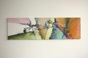 tableau abstrait peinture abstrait couleurs peinture au couteau : Tableau original - Vitrail