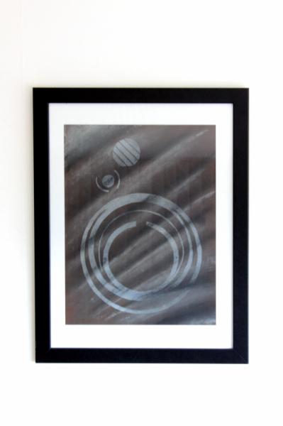 DESSIN GRAVURE SUR BOIS IMPRESSION PASTEL ABSTRAIT Abstrait Pastel  - Trace n� title=