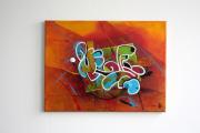 tableau abstrait chaine graff abstrait posca : Tableau orginal - Abstrait Sans Titre