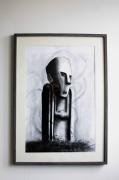 dessin paysages statue impassible graffiti ombre : Dessin original - Statue