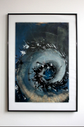 tableau abstrait technique mixte collage roman abstrait : Tableau original - Cent Ans de Solitude