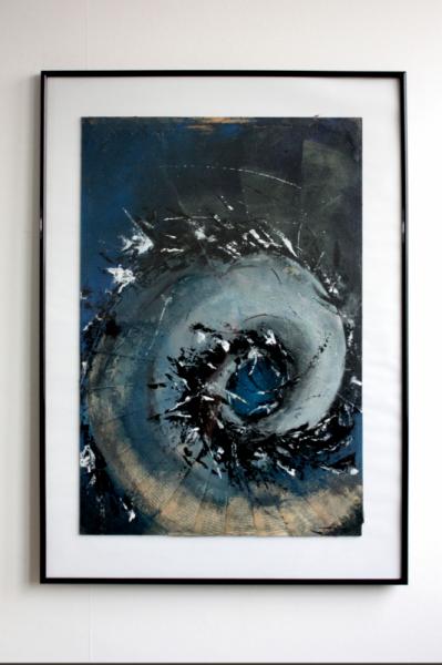 TABLEAU PEINTURE technique mixte collage roman abstrait Abstrait Acrylique  - Tableau original - Cent Ans de Solitude