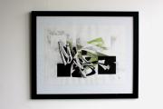 dessin abstrait abstrait courbes encre lavis : Dessin original - Composition