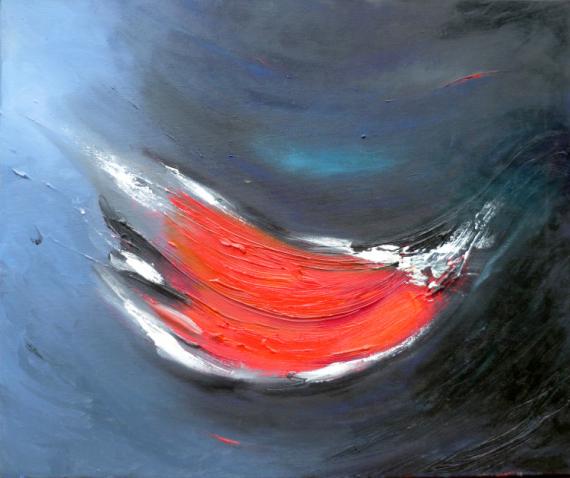 TABLEAU PEINTURE dynamique apaisant énergique joyeux Abstrait Peinture a l'huile  - Lal