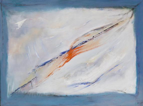 TABLEAU PEINTURE liberté fenêtre échappée trace Abstrait Peinture a l'huile  - Traces