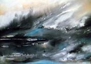 tableau abstrait emotionnel tourment oceanique humain : Dark