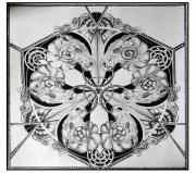 dessin abstrait mandala ammonite geometrique cercle : Ammonites