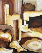tableau abstrait : La mine d'or