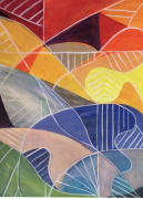 tableau abstrait : La vie en couleur