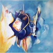 tableau abstrait : Exploration nocturne