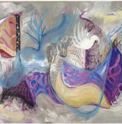 tableau abstrait : Toutes les voiles dehors