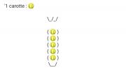 art numerique : Une Carotte (Balles de tennis jaune)