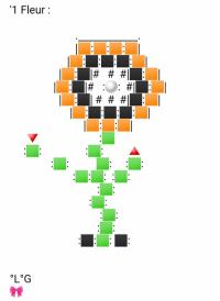 Une Fleur (Noire et orange)