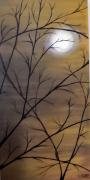 tableau paysages : Au clair de lune