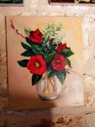 tableau fleurs : Bouquet de camélias