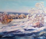 tableau paysages : Paysage de neige