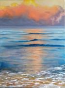 tableau marine : Reflets sur la mer