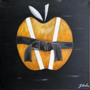 tableau fruits pomme judo ceinture noire grade : Ceci n'est pas une pomme