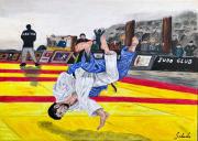 tableau sport judo combat arts martiaux mouvement : Le shiai, projection de judo