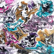 tableau fleurs fleurs abstrait abstract couleurs : La mouche