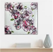 tableau fleurs fleurs japon cerisiers abstrait : Sakura : les cerisiers en fleurs