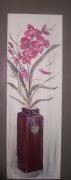tableau fleurs nature morte fleurs vase orchidees : Orchidées Roses