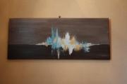 tableau abstrait abstrait huile reflets peinture : Tableau Abstrait feux d'Artifices