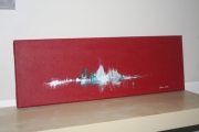 tableau marine arcachon abstrait marine rouge : Marine Rouge