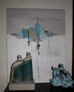 tableau abstrait abstrait acrylique tableau : Illusion