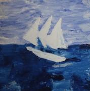 tableau marine marine abstraite peinture abstraite peinture marine bateau : voilier