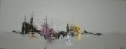 tableau marine marine abstraite peinture abstraite : Marina