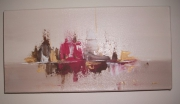tableau abstrait abstrait tableau mer contemporain : Burano II