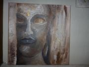 tableau personnages zen bouddha tableau bouddha maron chocolat : Tableau ZEN BOUDDHA
