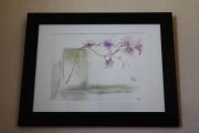 tableau fleurs aquarelle fleurs zen magnolia vase : Aquarelle Magnolia