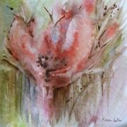 tableau fleurs aquarelle fleurs rose : Fleurs Rose