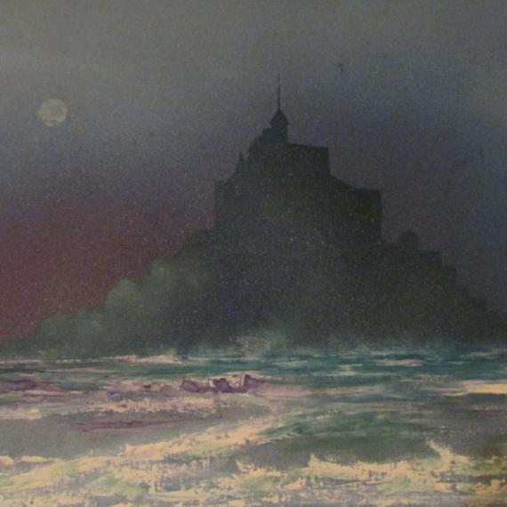 TABLEAU PEINTURE paysage mer Paysages Peinture a l'huile  - mont st michel