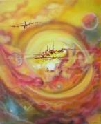 tableau abstrait spirale vortex univers fiction : Vortex