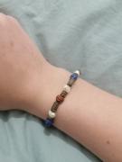 bijoux bracelet rouge bleu blanc : Bracelet bronze, rouge, bleu et blanc