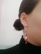 bijoux bijoux boucles doreilles rouge longues : Boucles d'oreilles rouges (grandes)