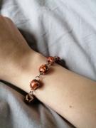bijoux bracelet grosses perles bois marron : Bracelet bois